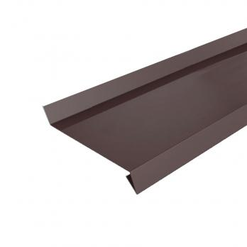 Отлив оконный коричневый полиэстер (8017) 0,45 мм, м.кв.