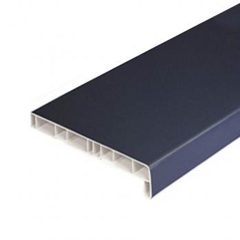 Подоконная доска из ПВХ (ПЛ ПВХ антрацит) 600 мм 2 капиноса, м.кв.