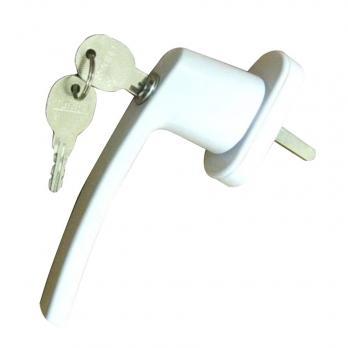 Ручка оконная с ключом белая, шт.